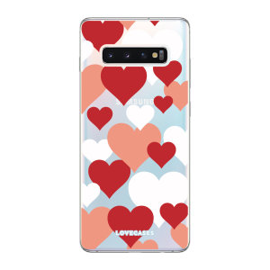 Give your Samsung S10 Plus a cute new look with this Valentines Love Heart design phone case from LoveCases. Cute but protective, the ultra-thin case provides slim fitting and durable protection against life's little accidents
