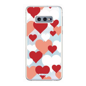 Give your Samsung S10e a cute new look with this Valentines Love Heart design phone case from LoveCases. Cute but protective, the ultra-thin case provides slim fitting and durable protection against life's little accidents