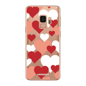 Give your Samsung S9 plus  a cute new look with this lovehearts design phone case from LoveCases - perfect for Valentines day. Cute but protective, the ultra-thin case provides slim fitting and durable protection against life's little accidents