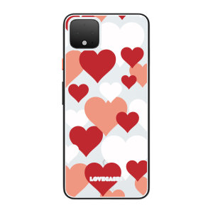 LoveCases Google Pixel 4 Lovehearts Clear Phone Case