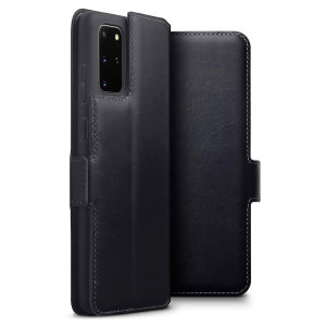 All the benefits of a wallet case but far more streamlined. The Olixar Slim Genuine Leather case in black is the perfect partner for the the Samsung Galaxy S20 Plus owner on the move. What's more, this case transforms into a handy stand to view media.