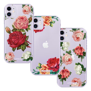 Set of 3 rose design clear phone cases from Lovecases. The perfect gift for yourself or a loved one. Cute but protective, the ultra-thin case provides slim fitting and durable protection against life's little accidents.