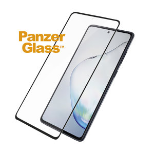 Introducing the premium range PanzerGlass case friendly screen protector. Designed to be shock and scratch resistant, PanzerGlass offers the ultimate protection for your stunning Samsung Galaxy Note 10 Lite. The full fit frame ensures advanced protection.