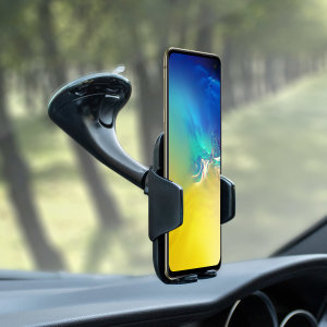 Dock your Galaxy S20 safely in the car with this Genuine Samsung Universal Vehicle Dock and Windscreen Mount, ideal for when you use your 20 as a Sat Nav.