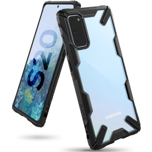 Keep your Samsung Galaxy S20 protected from bumps and drops with the Rearth Ringke Fusion X tough case in Black. Featuring a 2-part, Polycarbonate design, this case lives up to military drop-test standards and is incredible stylish.