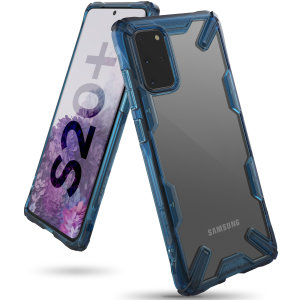 Keep your Samsung Galaxy S20 Plus protected from bumps and drops with the Rearth Ringke Fusion X tough case in Space Blue. Featuring a 2-part, Polycarbonate design, this case lives up to military drop-test standards.
