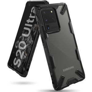 Keep your Samsung Galaxy S20 Ultra protected from bumps and drops with the Rearth Ringke Fusion X tough case in Black. Featuring a 2-part, Polycarbonate design, this case lives up to military drop-test standards.
