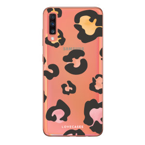 Take your Samsung A70 to the next level with this coloured leopard print phone case from LoveCases. Cute but protective, the ultrathin case provides slim fitting and durable protection against life's little accidents.