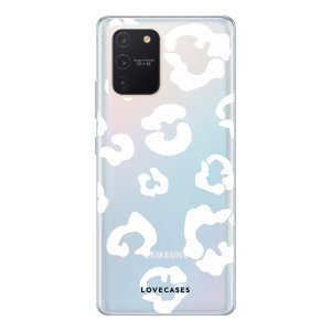 Give your Samsung Galaxy S10 Lite a cute new look with this White Leopard design phone case from LoveCases. Cute but protective, the ultra-thin case provides slim fitting and durable protection against life's little accidents