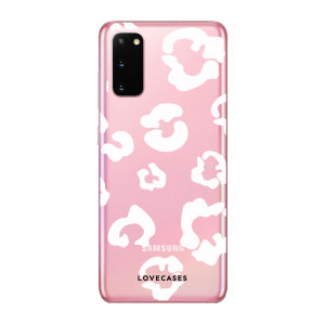 Give your Samsung Galaxy S20 5G a cute new look with this White Leopard design phone case from LoveCases. Cute but protective, the ultra-thin case provides slim fitting and durable protection against life's little accidents