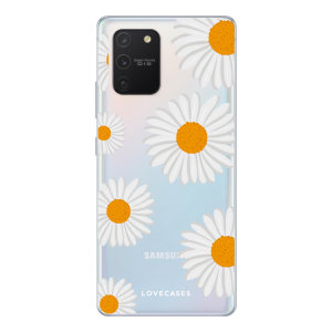 LoveCases Samsung Galaxy S10 Lite Daisy Clear Phone Case