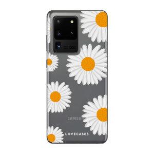 Offrez un style original à votre Samsung Galaxy S20 Ultra avec la coque LoveCases Daisy / Marguerites. Mince et parfaitement ajustée, elle assure une protection optimale à votre téléphone tout en lui ajoutant un style unique sur base transparente.