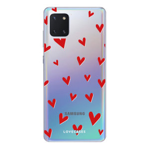 Give your Samsung Galaxy Note 10 Lite a cute new look with this Heart design phone case from LoveCases. Cute but protective, the ultra-thin case provides slim fitting and durable protection against life's little accidents