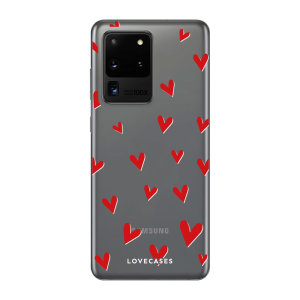 Give your Samsung Galaxy S20 Ultra 5G a cute new look with this Hearts design phone case from LoveCases. Cute but protective, the ultra-thin case provides slim fitting and durable protection against life's little accidents