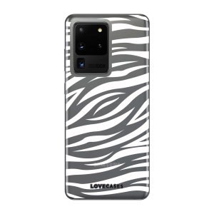LoveCases Samsung Galaxy S20 Ultra Zebra Clear Phone Case