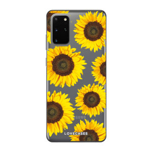 LoveCases Samsung S20 Plus Sunflower Clear Phone Case