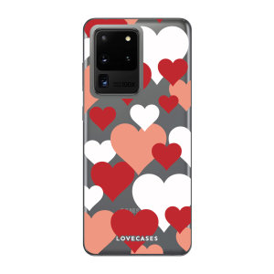 Give your Samsung Galaxy S20 Ultra 5G a cute new look with this Valentines Love Heart design phone case from LoveCases. Cute but protective, the ultra-thin case provides slim fitting and durable protection against life's little accidents