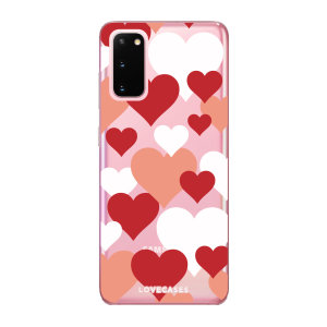 Give your Samsung Galaxy S20 5G a cute new look with this Valentines Love Heart design phone case from LoveCases. Cute but protective, the ultra-thin case provides slim fitting and durable protection against life's little accidents