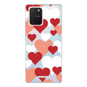 Give your Samsung Galaxy S10 Lite a cute new look with this Heart design phone case from LoveCases. Cute but protective, the ultra-thin case provides slim fitting and durable protection against life's little accidents