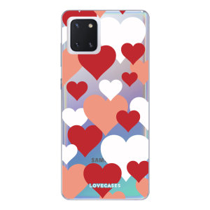 Give your Samsung Galaxy Note 10 Lite a cute new look with this Valentines Hearts design phone case from LoveCases. Cute but protective, the ultra-thin case provides slim fitting and durable protection against life's little accidents