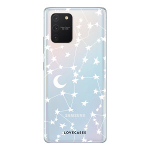 LoveCases Samsung Galaxy S10 Lite Gel Case - White Stars And Moons