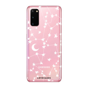 LoveCases Samsung Galaxy S20 Gel Case - White Stars And Moons