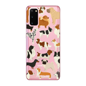 Give your Samsung Galaxy S20 5G a cute new look with this Dogs design phone case from LoveCases. Cute but protective, the ultra-thin case provides slim fitting and durable protection against life's little accidents