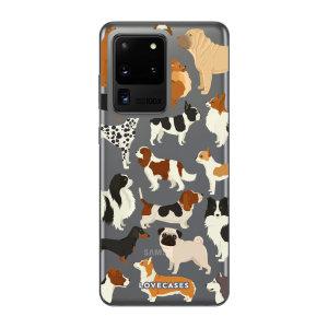 Offrez un style original à votre Samsung Galaxy S20 Ultra avec la coque LoveCases Dogs / Chiens. Mince et parfaitement ajustée, elle assure une protection optimale à votre téléphone tout en lui ajoutant un style unique sur base transparente.