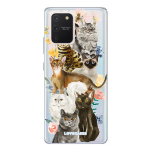 Give your Samsung Galaxy S10 Lite a cute new look with this Cats design phone case from LoveCases. Cute but protective, the ultra-thin case provides slim fitting and durable protection against life's little accidents