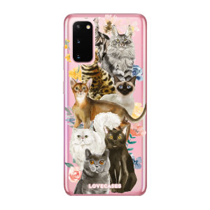 Give your Samsung Galaxy S20 5G a cute new look with this Cats design phone case from LoveCases. Cute but protective, the ultra-thin case provides slim fitting and durable protection against life's little accidents