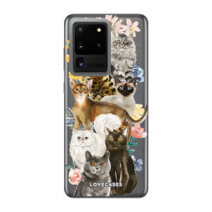 Give your Samsung Galaxy S20 Ultra 5G a cute new look with this Cats design phone case from LoveCases. Cute but protective, the ultra-thin case provides slim fitting and durable protection against life's little accidents