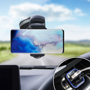 Essential items you need for your smartphone during a car journey all within the Olixar DriveTime In-Car Pack. Featuring a robust one-handed phone car mount and car charger with an additional USB port for your Samsung Galaxy S20.