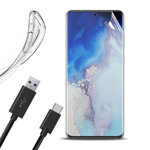 Guard your beautiful Samsung Galaxy S20 from damage with the Olixar Essential Pack. Featuring an ultra-thin case and two screen protectors, this pack provides the ultimate in lightweight protection, with the addition of a 1 metre USB-C cable.