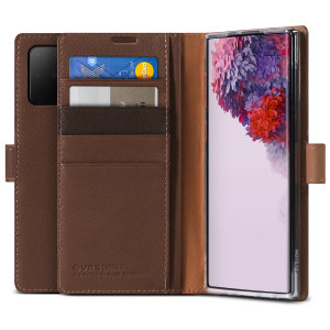 Protect your Samsung S20 Plus with this precisely designed Genuine Leather Diary case from VRS Design. Made with genuine leather, this case provides protection, security and a sophisticated look ensuring your S20 Plus is ready for any occasion.