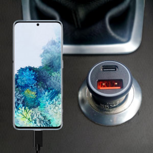 Featuring a USB-C port and Qualcomm Quick Charge 3.0 USB-A port this Olixar Samsung Galaxy S20 charger can simultaneously fast charge two devices at once. The charger includes Power Delivery (PD) to allow your S20  to charge up to 70% faster.