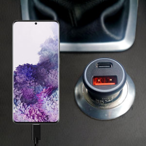 Featuring a USB-C port and Qualcomm Quick Charge 3.0 USB-A port this Olixar Samsung S20 Plus charger can simultaneously fast charge two devices at once. The charger includes Power Delivery (PD) to allow compatible devices to charge up to 70% faster.