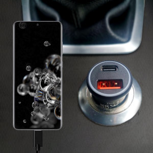 Featuring a USB-C port and Qualcomm Quick Charge 3.0 USB-A port this Olixar Samsung S20 Ultra charger can simultaneously fast charge two devices at once. The charger includes Power Delivery (PD) to allow compatible devices to charge up to 70% faster.