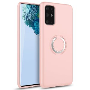 Zizo Revolve Series Galaxy S20 Plus Ultra Thin Ring Case - Rose Quartz