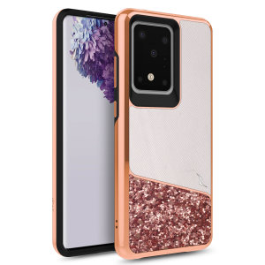 The sleek division series for the Samsung Galaxy S20 Ultra. The wonderlust finish gives you protection for your phone in style. This case is made for pure luxury and style.