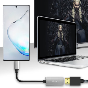 Connect your Samsung Galaxy Note 10 Plus to your TV or monitor with this HDMI adapter from Olixar. Quick and easy to connect, enjoy ultra smooth 4K video at 60Hz, display photos and play games on a larger screen. Dex Compatible