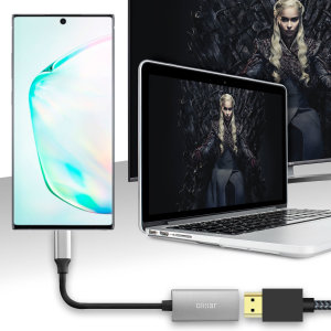 Connect your Samsung Galaxy Note 10 Plus 5G to your TV or monitor with this HDMI adapter from Olixar. Quick and easy to connect, enjoy ultra smooth 4K video at 60Hz, display photos and play games on a larger screen. Dex Compatible