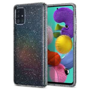Durable and lightweight, the Spigen Liquid Crystal Glitter series for the Samsung Galaxy A51 offers premium protection in a slim, form-fitting, stylish package with a sparkling Cystal Quartz pattern to accentuate your phone's own dynamic beauty.