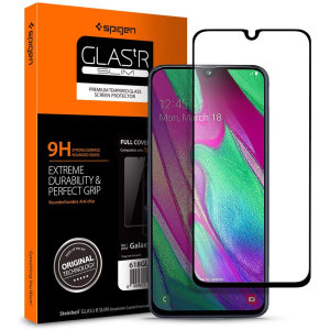 Introducing the ultimate in screen protection for the galaxy A40, the SGP GLAS.tR Series made from premium real glass with rounded edging, oleophobic coating and anti-shatter film. This screen protector is simple to install and offers great sensitivity.