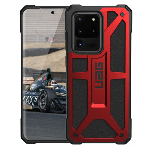 The UAG Monarch in Crimson for the Samsung Galaxy S20 Ultra is quite possibly the king of protective cases. With 5 layers of premium protection and moulded from the finest materials, your Galaxy S20 Ultra is safe, secure and remains stylish.
