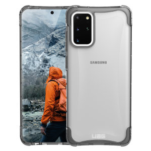 The Urban Armour Gear Plyo semi-transparent tough case in Ice for the Samsung Galaxy S20 Plus features reinforced Air-Soft corners and an optimised honeycomb structure for superior drop and shock protection.