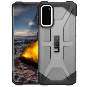 The Urban Armour Gear Plasma for the Samsung Galaxy S20 features a protective TPU case in Ash with a brushed metal UAG logo insert for an amazing design and excellent protection from scrapes, bumps and scratches.