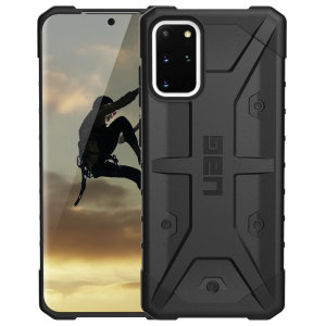 The Urban Armour Gear Pathfinder black rugged case for the Samsung Galaxy S20 Plus features a classic tough-looking, composite design with a soft impact-absorbing core and hard exterior that provides superb protection in all situations.