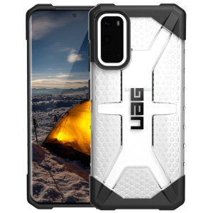 The Urban Armour Gear Plasma for the Samsung Galaxy S20 features a protective TPU case in Ice with a brushed metal UAG logo insert for an amazing design and excellent protection from scrapes, bumps and scratches.