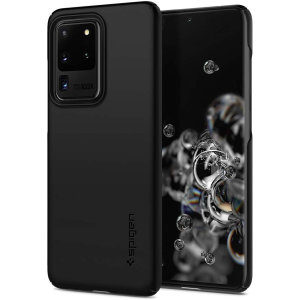 Durable and lightweight, the Spigen Thin Fit series for the Samsung Galaxy S20 Ultra offers premium protection in a slim, stylish package. Carefully designed the Thin Fit case in smooth black is form-fitted for a perfect fit.