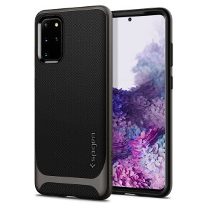 The Spigen Neo Hybrid in gunmetal colour is the new leader in lightweight protective cases. Spigen's new Air Cushion Technology reduces the thickness of the case while providing optimal corner protection for your Samsung Galaxy S20 Plus.